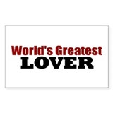 World's Greatest Lover Rectangle Sticker 50 pk)