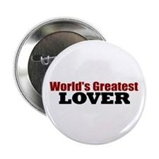 "World's Greatest Lover 2.25"" Button (100 pack)"