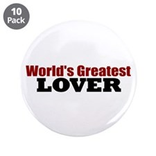 "World's Greatest Lover 3.5"" Button (10 pack)"