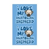 I Love my Anatolian Shepherd Sticker (Cartoon)