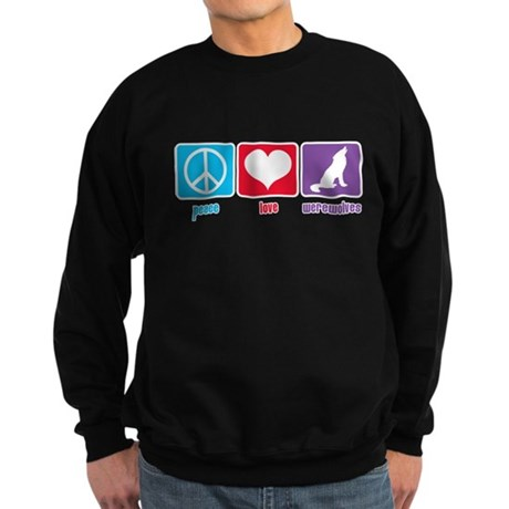 Peace Love Werewolves Sweatshirt (dark)