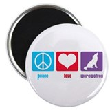 "Peace Love Werewolves 2.25"" Magnet (10 pack)"