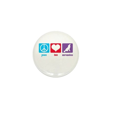 Peace Love Werewolves Mini Button (10 pack)