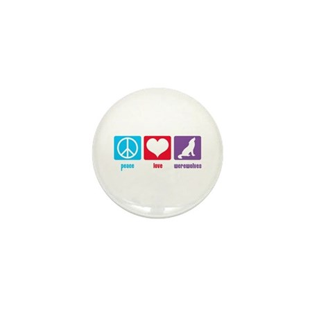Peace Love Werewolves Mini Button (100 pack)