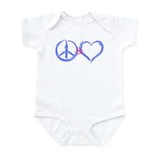 BabyBlue Peace & Heart Infant Creeper
