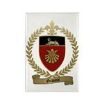 GRAVOIS Family Crest Rectangle Magnet