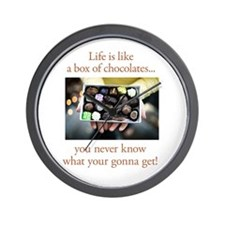 Life is like a box of chocola Wall Clock