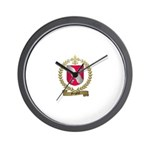 GREGOIRE Family Crest Wall Clock