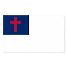 Christian Flag Rectangle Sticker 10 pk)