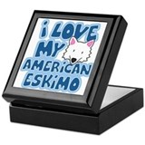 I Love my American Eskimo Keepsake Box
