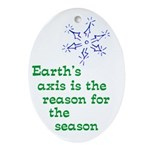 Earth's axis reason science ornament