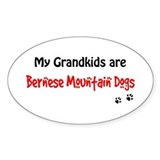 Bernese Grandkids Oval Decal