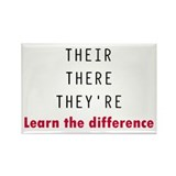 Their There They're Rectangle Magnet (10 pack)