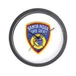 Santa Rosa Fire Wall Clock