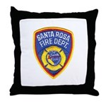 Santa Rosa Fire Throw Pillow