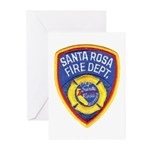 Santa Rosa Fire Greeting Cards (Pk of 20)