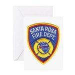 Santa Rosa Fire Greeting Card