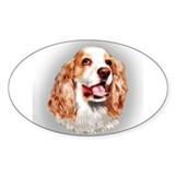 Cocker Spaniel Oval Decal