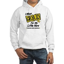 I Wear Gold For My Little Hero 8 Hoodie