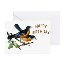 American robin Greeting Cards (Pk of 10)