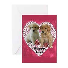 Golden Retriever Valentines Cards (Pk of 10)
