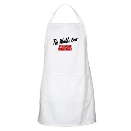 &quot;The World's Best Postal Worker&quot; BBQ Apron