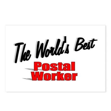 &quot;The World's Best Postal Worker&quot; Postcards (Packag