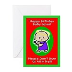Baby Jesus Greeting Cards (Pk of 10)