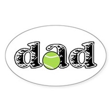 Tennis Dad Oval Decal