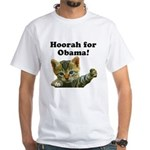 Hoorah for Obama White T-Shirt