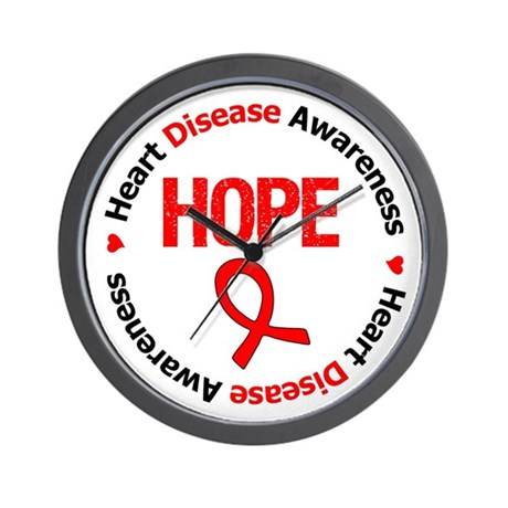 Heart Disease Hope Wall Clock