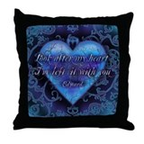 Edward's Heart-Twilight Throw Pillow