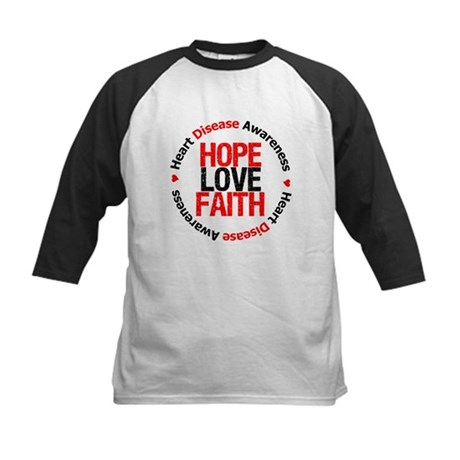 HeartDiseaseHopeLoveFaith Kids Baseball Jersey