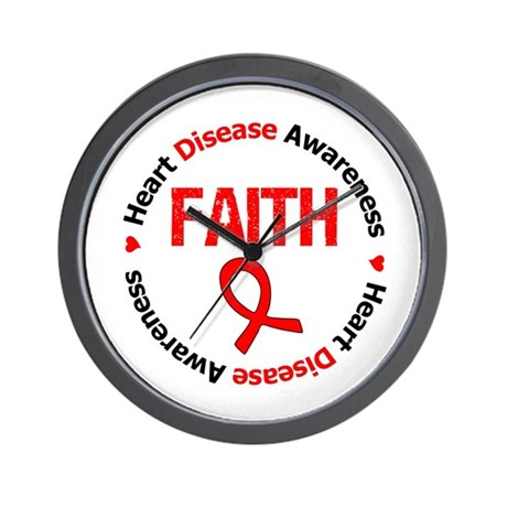 Heart Disease Faith Wall Clock