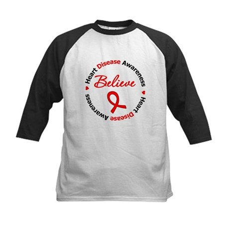 Heart Disease Believe Kids Baseball Jersey