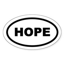 Hope Oval Sticker (50 pk)