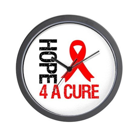 HeartDisease HopeCure Wall Clock