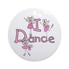 Ballerina I Dance Ornament (Round)