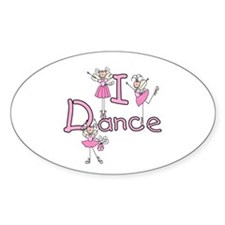 Ballerina I Dance Oval Sticker (10 pk)