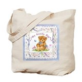 Adorable Teddy Bear Canvas Tote Bag