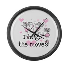 I've Got the Moves Large Wall Clock