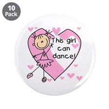 "This Girl Can Dance 3.5"" Button (10 pack)"