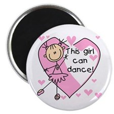 "This Girl Can Dance 2.25"" Magnet (10 pack)"