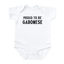 Proud to be Gabonese Infant Bodysuit