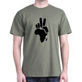 africa darfur peace hand vintage T-Shirt