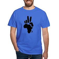 africa darfur peace hand vintage T-Shirt