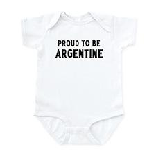 Proud to be Argentine Infant Bodysuit