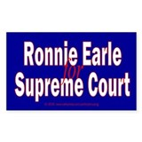 Earle for Supreme Court. Rectangle Decal