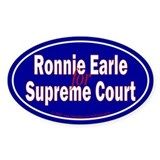 Earle for Supreme Court. Oval Decal