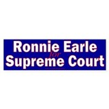 Earle for Supreme Court. Bumper Bumper Sticker